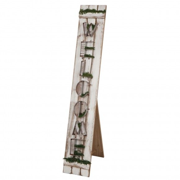 """Glitzhome Welcome Wood/Metal Porch Sign 43.7""""H"""