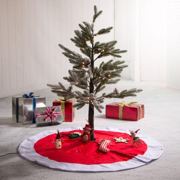 "Glitzhome Felt Tree Skirt Christmas Home Decor, 42"" inches(in Diameter)"