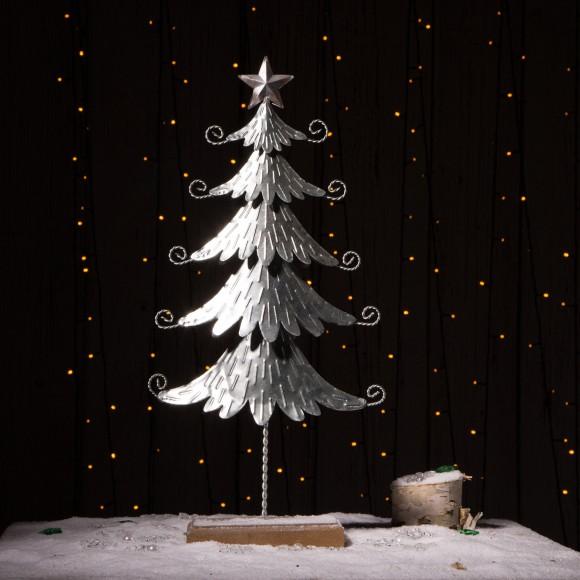 "Glitzhome Galvanized Table Tree Christmas Home Decor 20"" H"