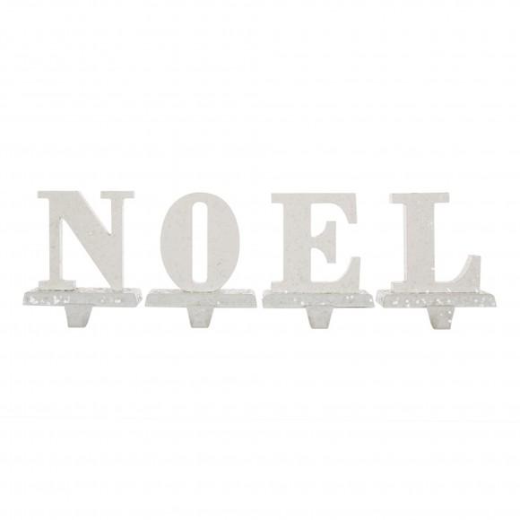 """Glitzhome 5.91""""H """"NOEL"""" Stocking Holder Set"""