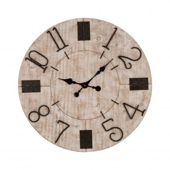 Glitzhome Rustic Wooden Wall Clock Farmhouse Style Home Decor