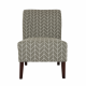 Glitzhome Accent Chair Herringbone Upholstered Living Room Accent Chair Gray
