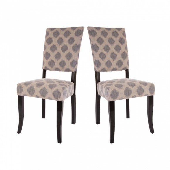 Glitzhome Fabric Dining Chairs Beige, Set Of Two