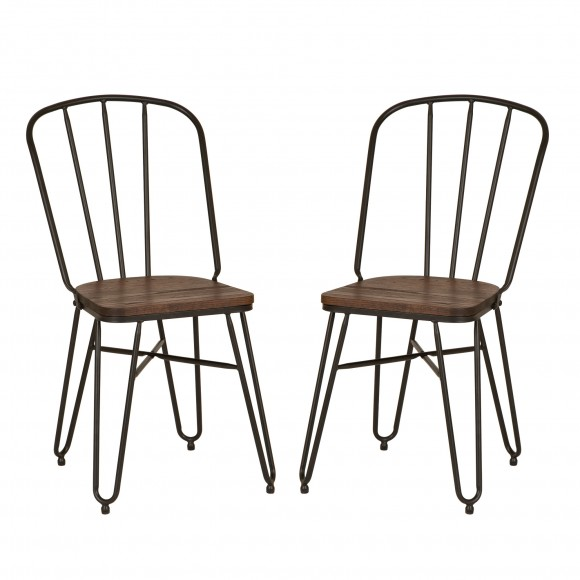Glitzhome Hairpin leg chairs, set of 2