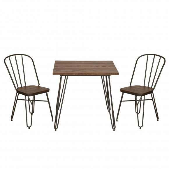 Glitzhome Metal Set Furniture, Hairpin Leg Chairs