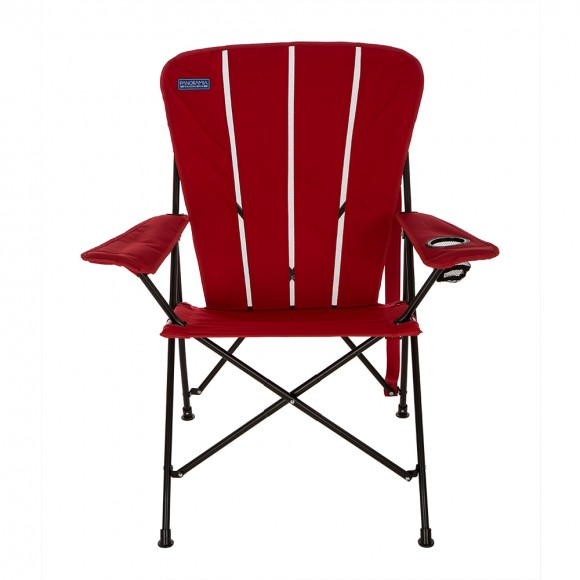 Panoramia Foldable Metal Director Chair with Deluxe Armrest, Red