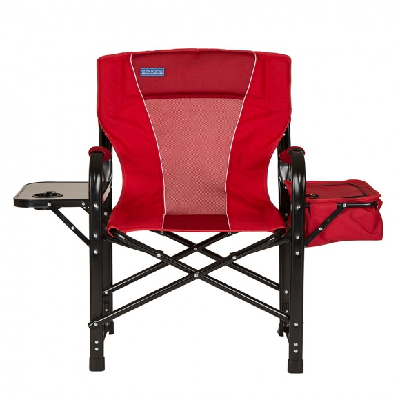 panoramia foldable metal director chair with deluxe armrest and