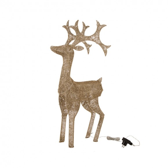 glitzhome christmas grapevine reindeer decor led sparkling studded holiday ornaments - Christmas Deer Decor