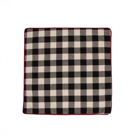 Clitzhome Farmhouse Black Plaid Pillow Cover