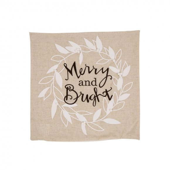 Glitzhome Merry and Bright Decorative Throw Pillow Case Cushion Cover