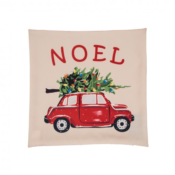 Glitzhome Christmas Noel Car Pillow Cover