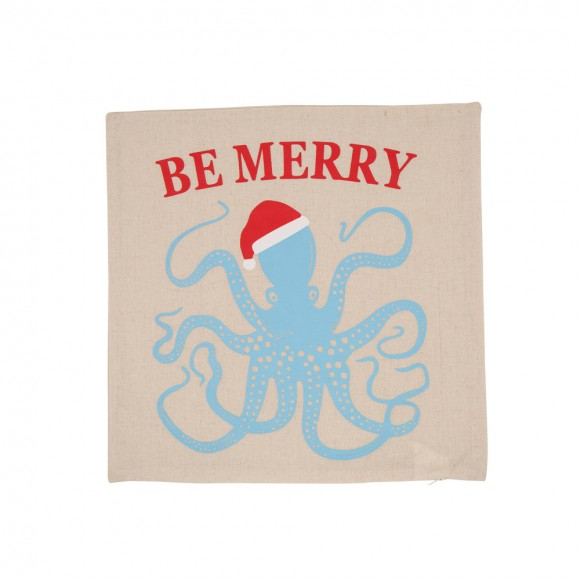 "Glitzhome Octopus  ""Be Merry"" Body Pillow Cover"