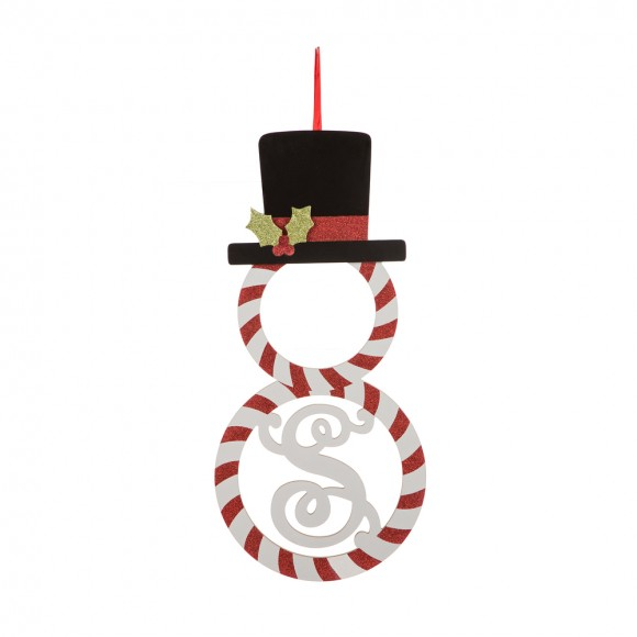 Glitzhome Christmas Snowmen Wall Decor Xmas Ornaments S