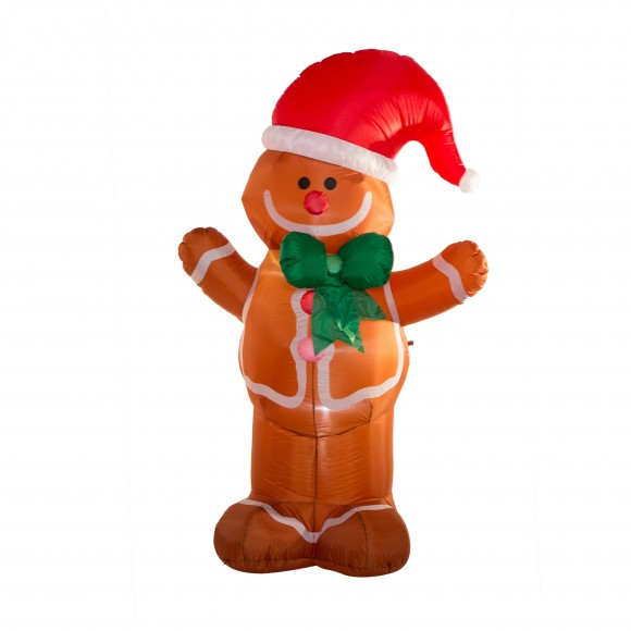 Glitzhome 7.87FT Christmas Gingerbread Man Light Inflatable Air Blown Yard Decor