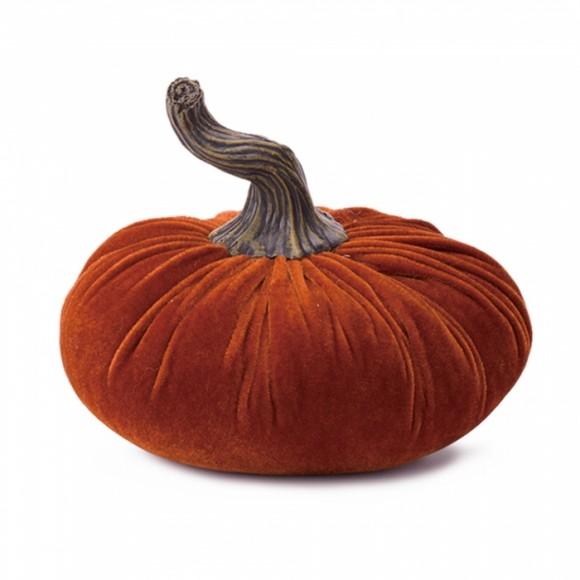Glitzhome Plush Velvet Pumpkin Decor
