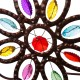 """Glitzhome 20.39 """"L Iron Boho Beaded Butterfly Wall Sign"""