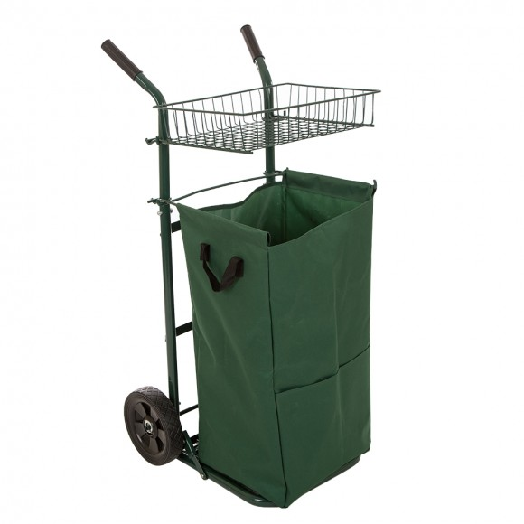 Glitzhome 40.5''H Garden Yard Cart with Detachable Leaf Bag