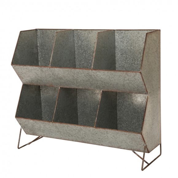 Glitzhome Metal Storage Shelf Organizer Rustic Standing Shelf