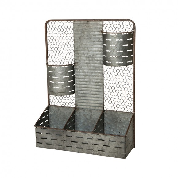 OFFICIAL] Glitzhome Galvanized Wire Wall Organizer Wall Mount Pocket ...