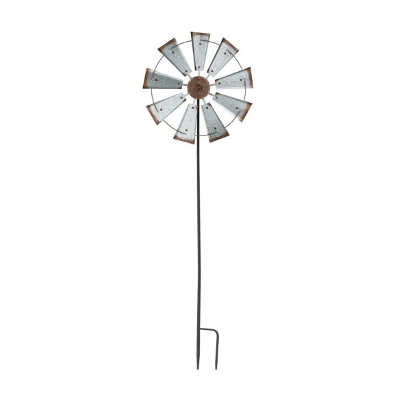 Glitzhome Handcrafted Metal Windmill Garden Decorative Yard Stake