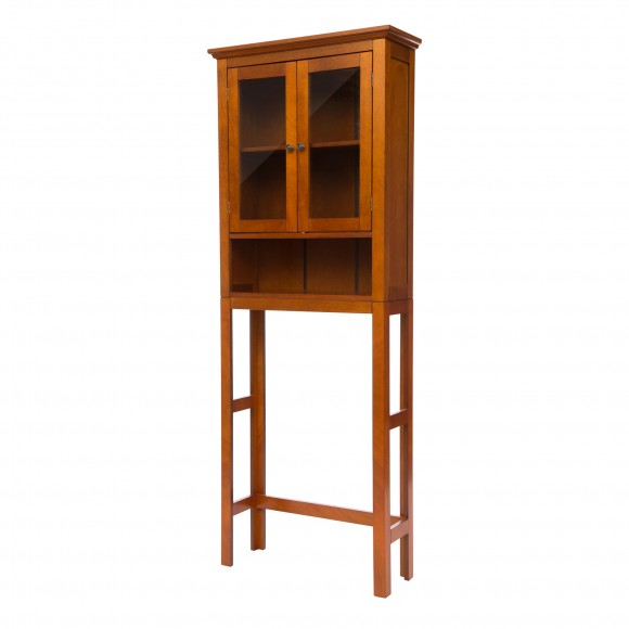 "Glitzhome 68.25""H Wooden Bathroom Free Standing Storage Cabinet Spacesaver"