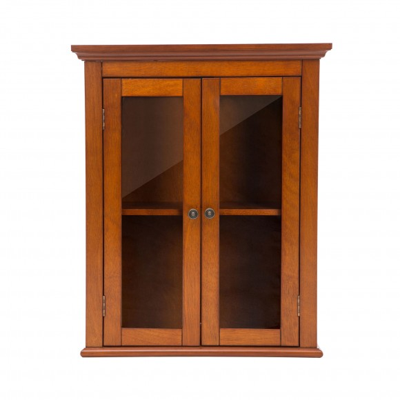 Glitzhome Wooden Bathroom Wall Storage Cabinet with Double Doors