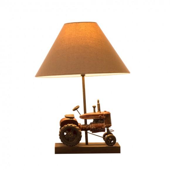 Glitzhome Farmhouse Truck 18.9''H Polyresin Farmhouse Truck Table Lamp with Shade
