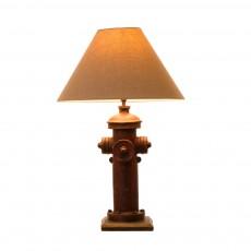 Novelty lamps glitzhome vintage style hydrant novelty table lamp with burlap shade aloadofball Choice Image