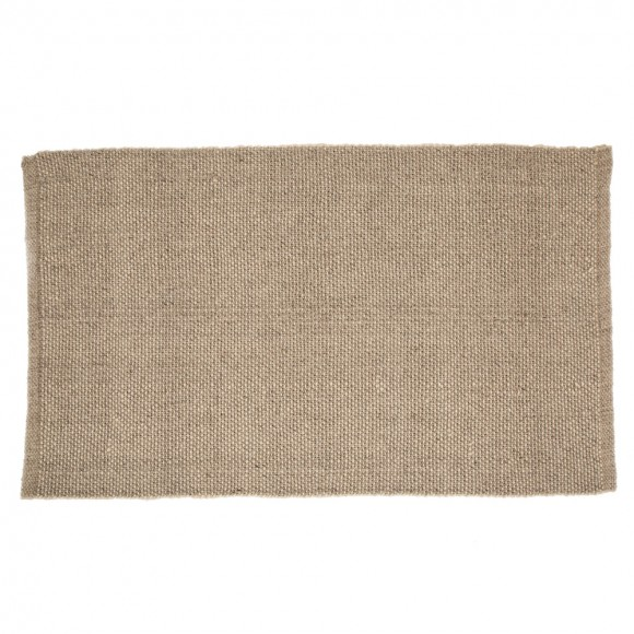 Glitzhome 5.1'Lx3'W Handcrafted Woven Heavy Premium Wool Area Rug