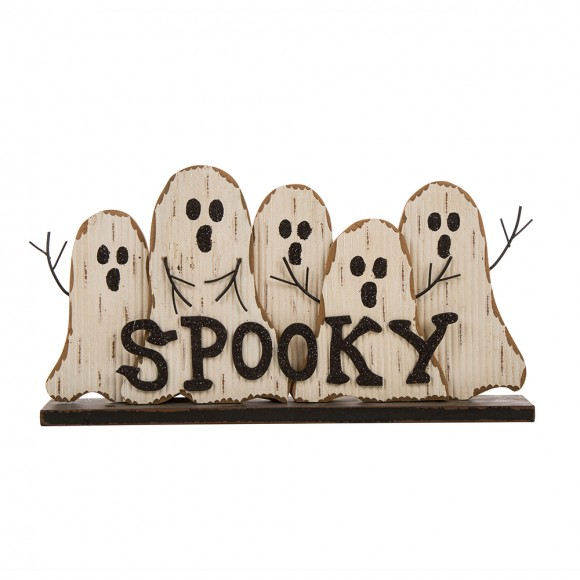 Glitzhome Wooden Halloween Ghosts Table Sign Decorations