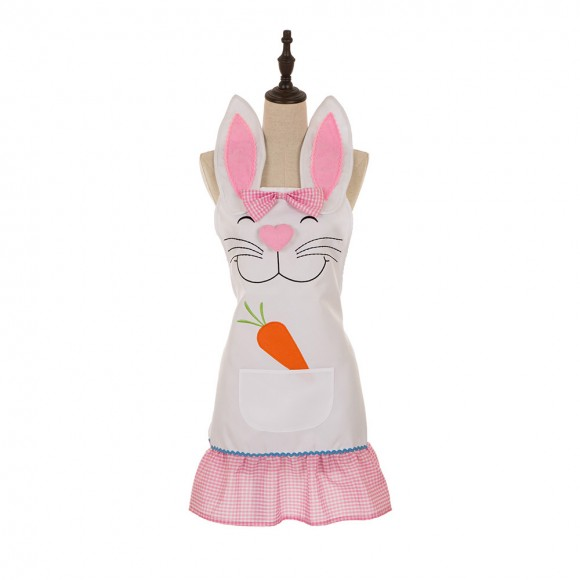 Glitzhome Handmade Plaid Female Bunny Apron