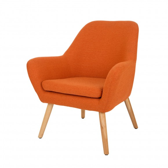 Incroyable Glitzhome Mid Century Accent Chair Living Room Furniture Armchair, Orange