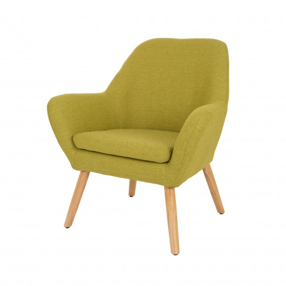 Glitzhome Mid-Century Accent Chair Living Room Furniture Armchair, Green