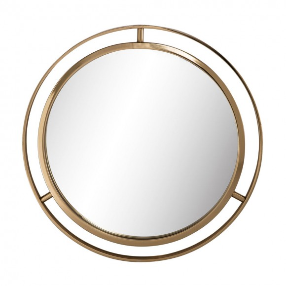 """Glitzhome Makeup Mirror 24""""D Deluxe Round Gold Wall Mirror"""
