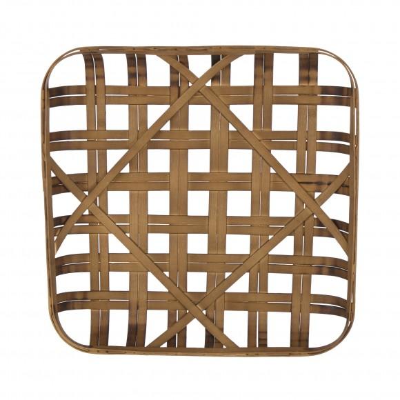 "Glitzhome 24""L Brown Bamboo Weaving Basket"