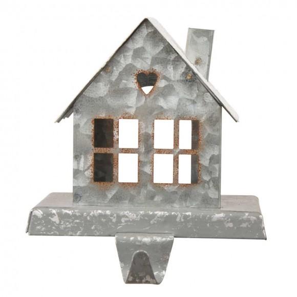 "Glitzhome 6.00""H Galvanized House Stocking Holder"
