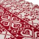 """Glitzhome 60""""L*50""""W Knitted Snowflake Polyester Red/White Throw Blanket 930g"""