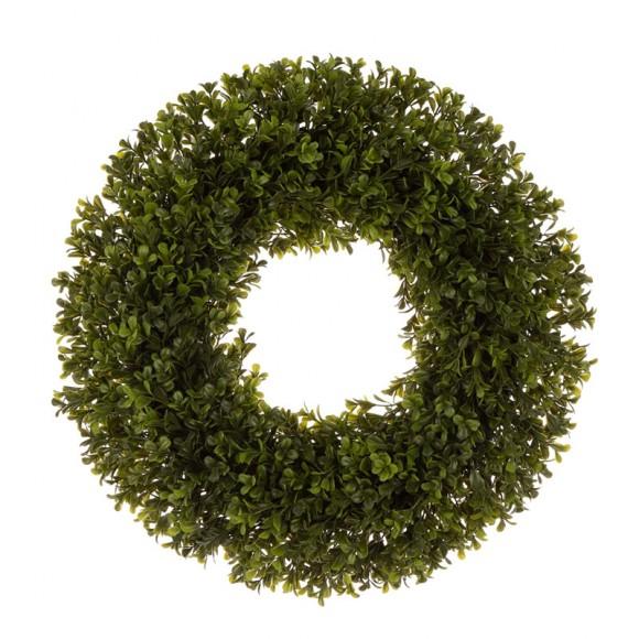 "Glitzhome 18""D Artificial Boxwood Wreath"