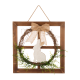 "Glitzhome 18""H Wooden Frame Easter Wall Décor with Wreath"