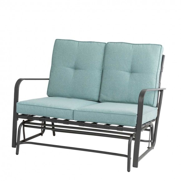 Official Outdoor Patio Loveseat Glider, Outdoor Patio Furniture With Glider Chairs