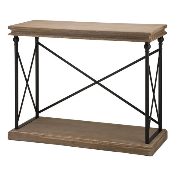 """Glitzhome 42.10""""L French Vintage Antiqued finish Console Table"""