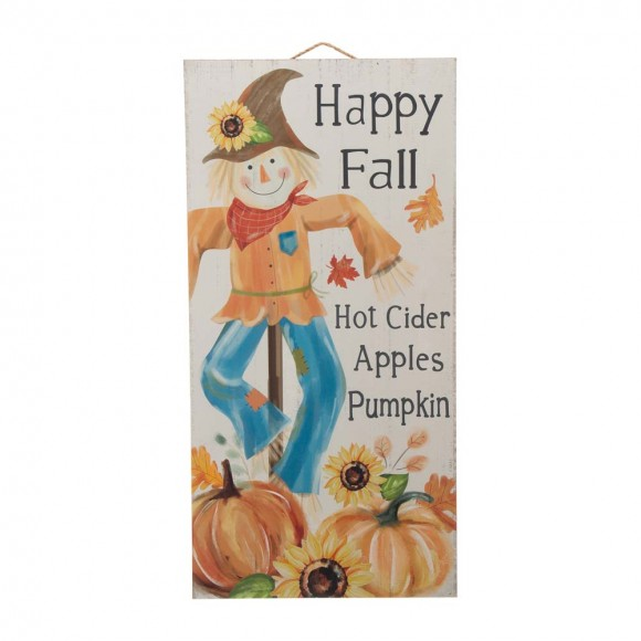 """Glitzhome 24""""H Fall Wooden Scarecrow Hanging Decor"""