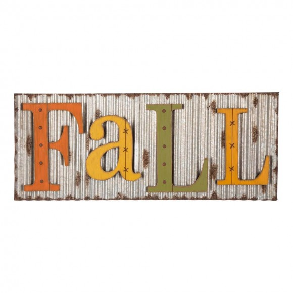 "Glitzhome 36""L Fall Metal Sign Hanging Decor"