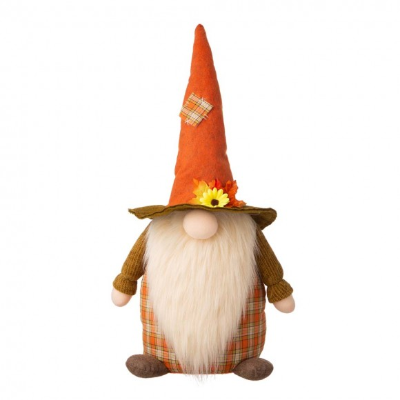 "OFFICIAL] Glitzhome 24""H Fall Fabric Gnome Standing Décor FREE SHIPPING"