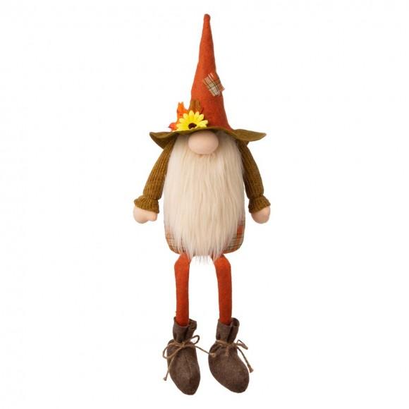 """Glitzhome 24""""H Fall Fabric Gnome Shelf Sitter Decor"""