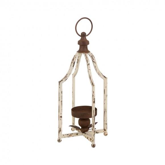"""Glitzhome 16.5""""H Small Farmhouse Rustic Metal Lantern"""