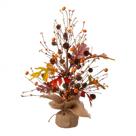 "Glitzhome 20""H Harvest Table Tree Decor"