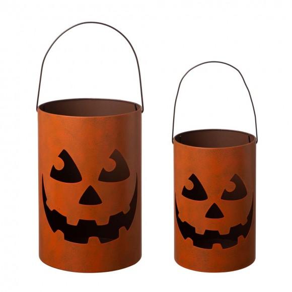 Glitzhome Halloween Jack O Lantern Set of 2