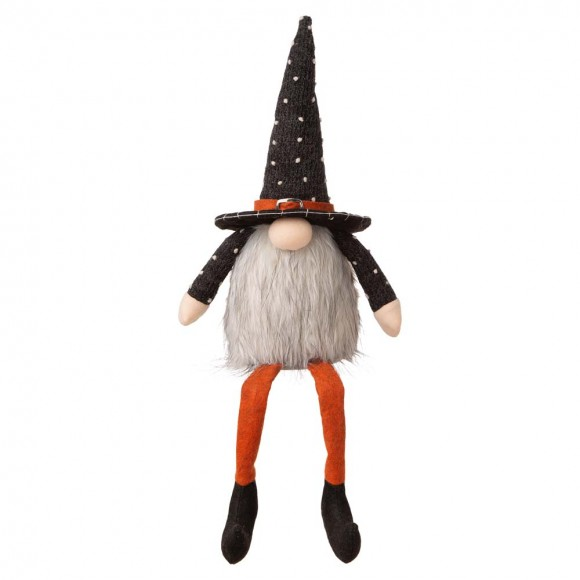 "Glitzhome 20""H Halloween Fabric Gnome Sitter Decor"