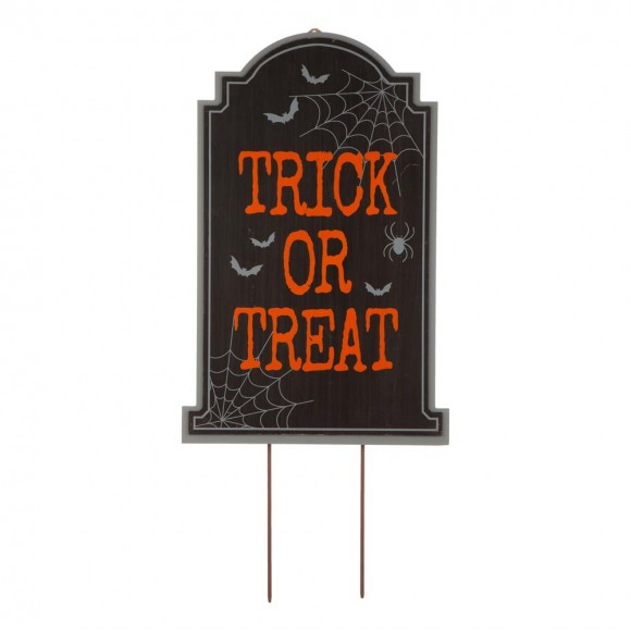 """Glitzhome 29""""H Halloween Wooden Tombstone Yard Stake or Standing Decor or Hanging Decor (KD, Three Function)"""